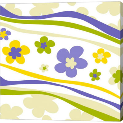 Flower Trail Gallery Wrapped Canvas Wall Art On Deep Stretch Bars