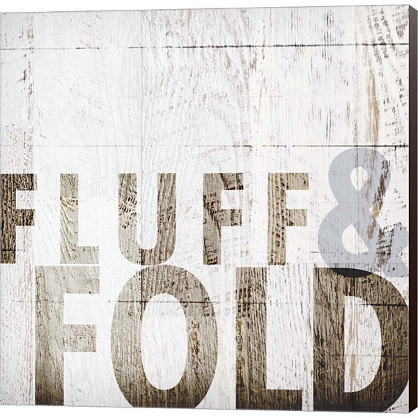 Fluff And Fold Gallery Wrapped Canvas Wall Art OnDeep Stretch Bars