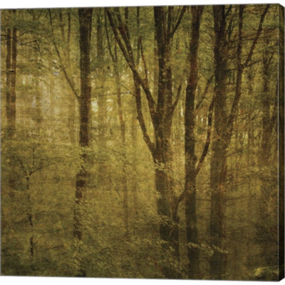 Fog In Mountain Trees No. 2 Gallery Wrapped CanvasWall Art On Deep Stretch Bars