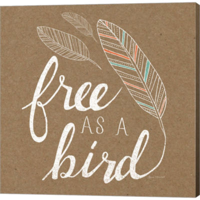 Free As A Bird Gallery Wrapped Canvas Wall Art OnDeep Stretch Bars