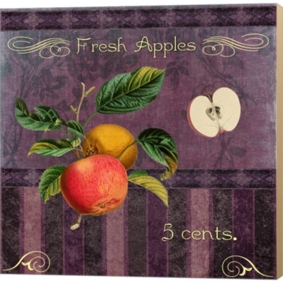 Metaverse Art Fresh Apples Gallery Wrapped CanvasWall Art