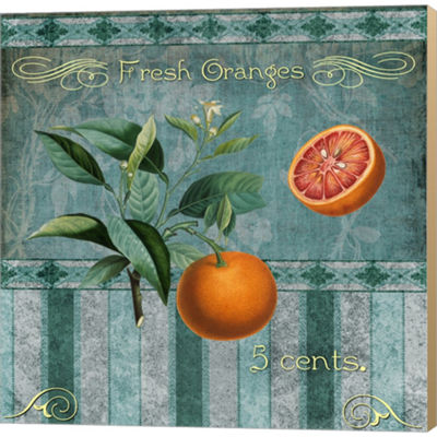 Metaverse Art Fresh Oranges Gallery Wrapped Canvas Wall Art On Deep Stretch Bars