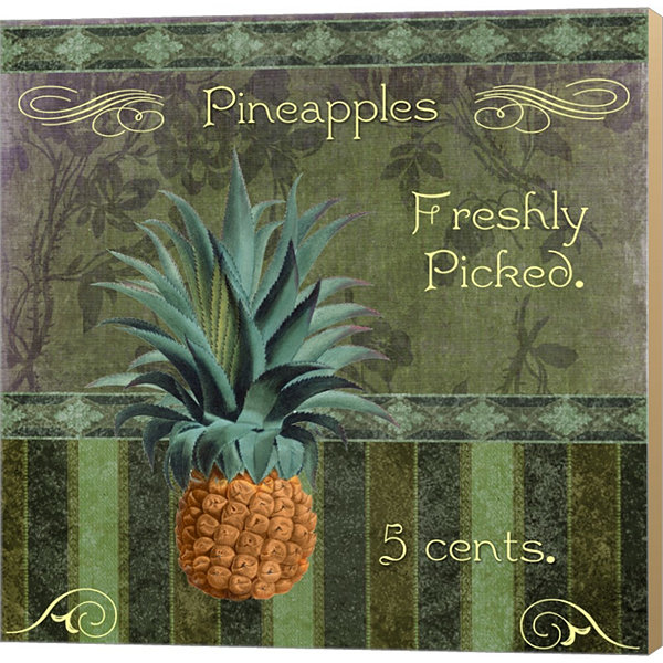 Fresh Pineapples Gallery Wrapped Canvas Wall Art On Deep Stretch Bars