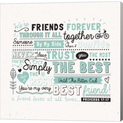 Friends Forever Gallery Wrapped Canvas Wall Art OnDeep Stretch Bars