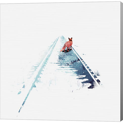 From Nowhere To Nowhere Gallery Wrapped Canvas Wall Art On Deep Stretch Bars