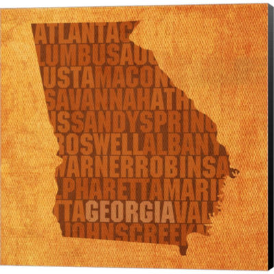 Metaverse Art Georgia State Words Gallery WrappedCanvas Wall Art