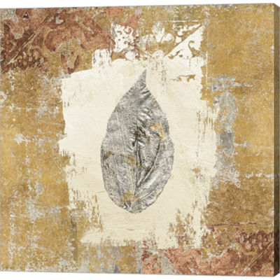 Metaverse Art Gilded Leaf III Gallery Wrapped Canvas Wall Art