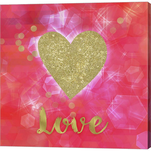 Metaverse Art Glitter Love Gallery Wrapped CanvasWall Art