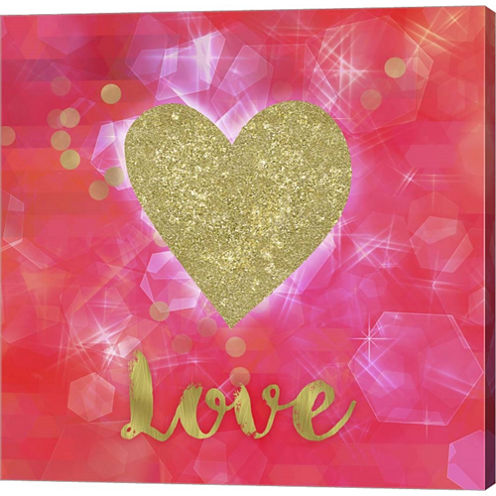 Glitter Love Gallery Wrapped Canvas Wall Art On Deep Stretch Bars