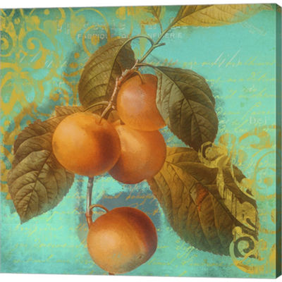 Metaverse Art Glowing Fruits I Gallery Wrapped Canvas Wall Art