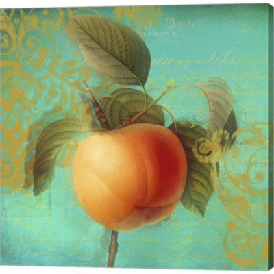 Metaverse Art Glowing Fruits III Gallery Wrapped Canvas Wall Art