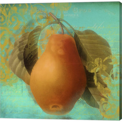 Metaverse Art Glowing Fruits IV Gallery Wrapped Canvas Wall Art