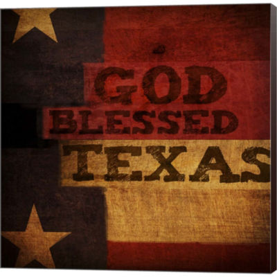 Metaverse Art God Blessed Texas Gallery Wrapped Canvas Wall Art