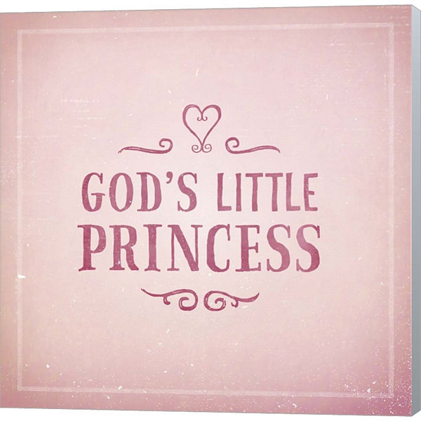 Metaverse Art God's Little Princess Gallery Wrapped Canvas Wall Art