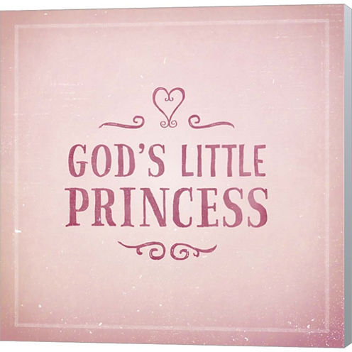 God's Little Princess Gallery Wrapped Canvas WallArt On Deep Stretch Bars