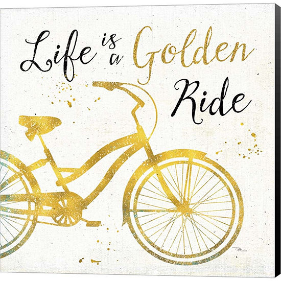 Metaverse Art Golden Ride I Gallery Wrapped CanvasWall Art