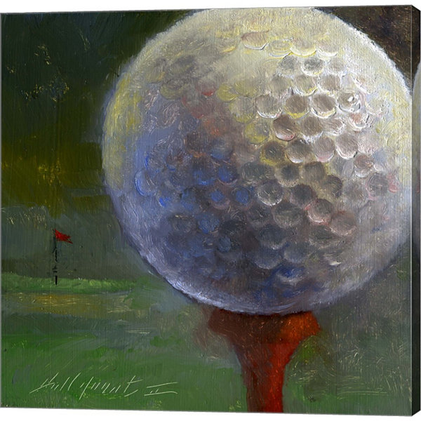 Metaverse Art Golf Ball Gallery Wrapped Canvas Wall Art