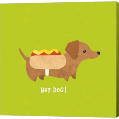 Metaverse Art Good Dogs Dachshund Bright Gallery Wrapped Canvas Wall Art