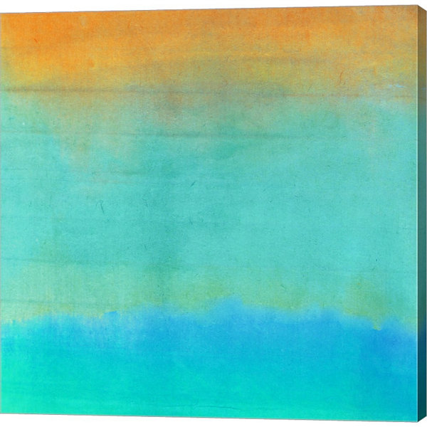 Metaverse Art Gradients II Gallery Wrapped CanvasWall Art