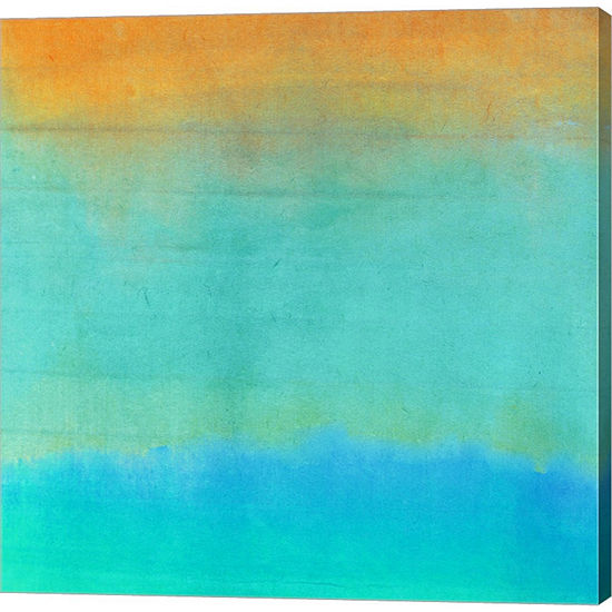 Metaverse Art Gradients II Gallery Wrapped CanvasWall Art