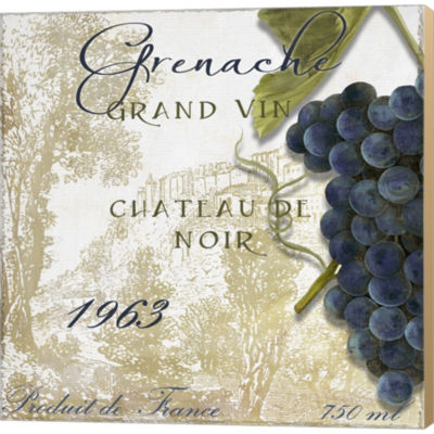Metaverse Art Grand VIn Grenache Gallery Wrapped Canvas Wall Art