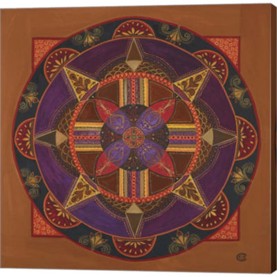 Metaverse Art Heart And Soul Mandala Gallery Wrapped Canvas Wall Art