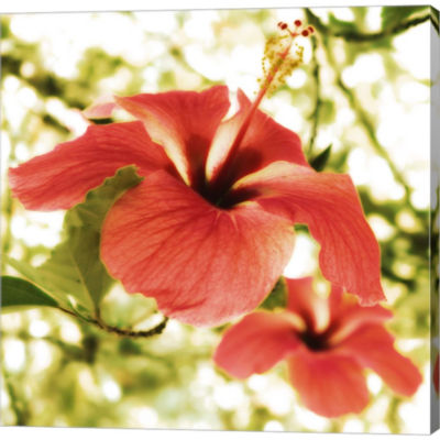 Metaverse Art Hibiscus Gallery Wrapped Canvas WallArt