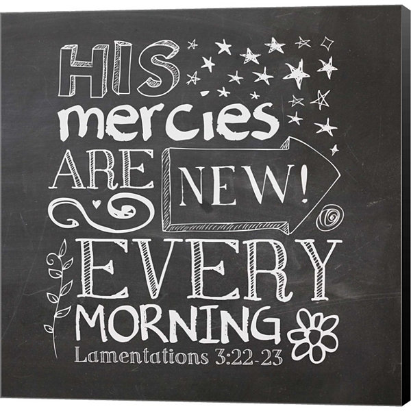 Metaverse Art His Mercies Are New Gallery WrappedCanvas Wall Art