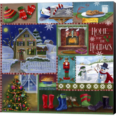 Metaverse Art Home For The Holidays Winter GalleryWrapped Canvas Wall Art