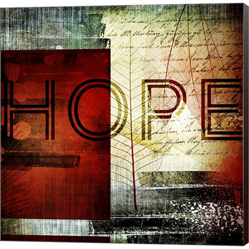 Hope Gallery Wrapped Canvas Wall Art On Deep Stretch Bars