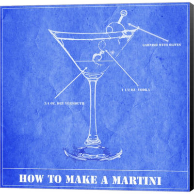 How To Make A Martini Gallery Wrapped Canvas WallArt On Deep Stretch Bars