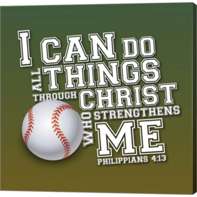 Metaverse Art I Can Do All Sports - Baseball Gallery Wrapped Canvas Wall Art