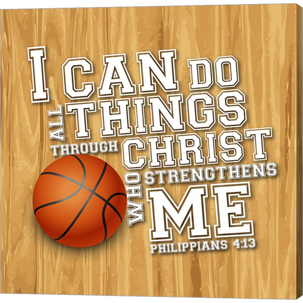 Metaverse Art I Can Do All Sports - Basketball Gallery Wrapped Canvas Wall Art
