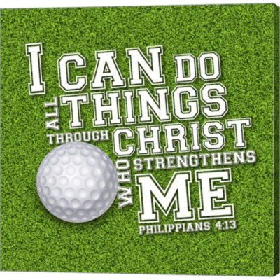 Metaverse Art I Can Do All Sports - Golf Gallery Wrapped Canvas Wall Art