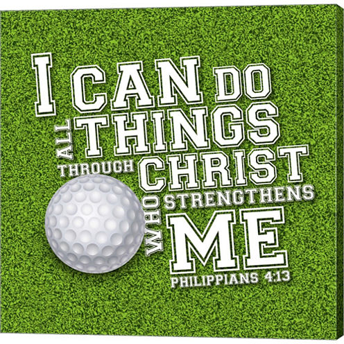 I Can Do All Sports - Golf Gallery Wrapped CanvasWall Art On Deep Stretch Bars