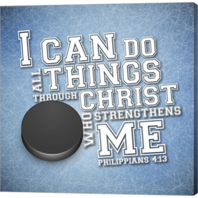 Metaverse Art I Can Do All Sports - Hockey GalleryWrapped Canvas Wall Art