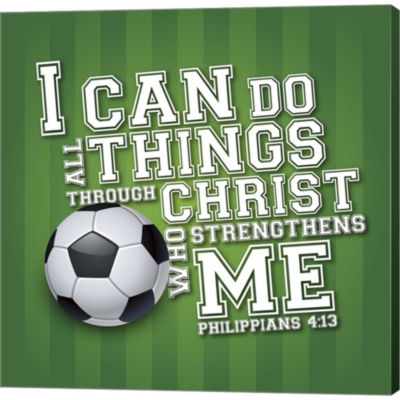 Metaverse Art I Can Do All Sports - Soccer GalleryWrapped Canvas Wall Art