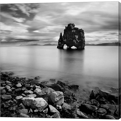 Iceland Dinosaur Gallery Wrapped Canvas Wall Art On Deep Stretch Bars