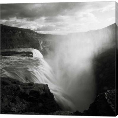Metaverse Art Iceland Gullfoss Gallery Wrapped Canvas Wall Art