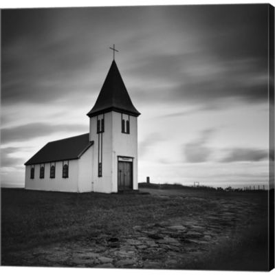 Metaverse Art Iceland Hellnar Church Gallery Wrapped Canvas Wall Art