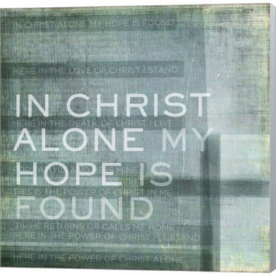 Metaverse Art In Christ Alone Gallery Wrapped Canvas Wall Art