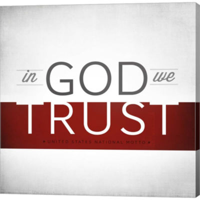 Metaverse Art In God We Trust I Gallery Wrapped Canvas Wall Art
