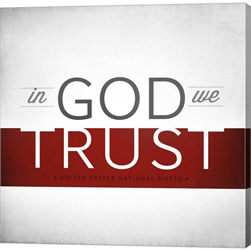 In God We Trust I Gallery Wrapped Canvas Wall ArtOn Deep Stretch Bars