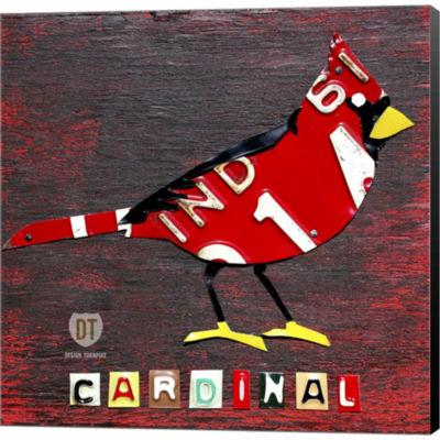 Metaverse Art Indiana Cardinal Gallery Wrapped Canvas Wall Art