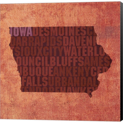 Metaverse Art Iowa State Words Gallery Wrapped Canvas Wall Art
