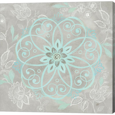 Metaverse Art Jacobean Damask I Gallery Wrapped Canvas Wall Art