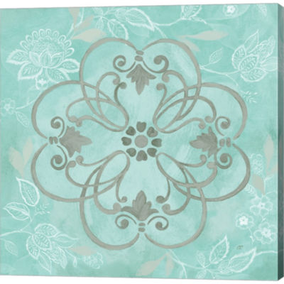 Metaverse Art Jacobean Damask II Gallery Wrapped Canvas Wall Art