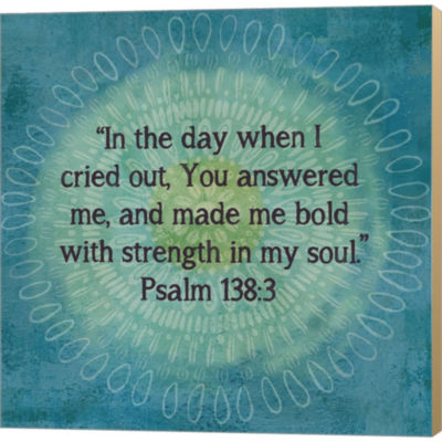 Metaverse Art Jacobean Medallion Scripture I Gallery Wrapped Canvas Wall Art