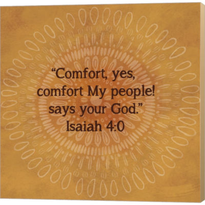 Metaverse Art Jacobean Medallion Scripture III Gallery Wrapped Canvas Wall Art