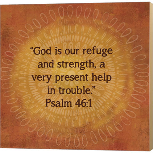 Jacobean Medallion Scripture IV Gallery Wrapped Canvas Wall Art On Deep Stretch Bars